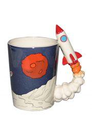 Kubek w kształcie rakiety z nadrukiem - Planeta