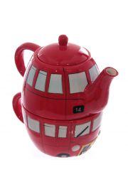 Dzbanek do herbaty wraz z kubeczkiem stylizowany na angielski pi