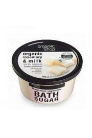 Cukier do kąpieli - rozmaryn i mleko. Organic Shop