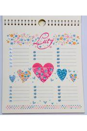 Kalendarz ścienny urodzinowy