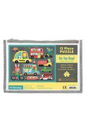 Mudpuppy, Puzzle w saszetce 12 elementów Na drodze