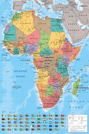 Mapa Afryki - plakat
