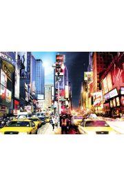 Nowy Jork - Times Square w dzień i w nocy - plakat