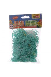 Turkusowe Gumki Loom Bands 600 sztuk