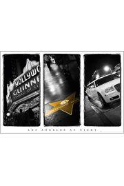 Los Angeles Nocą - Hollywood - plakat