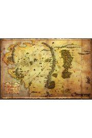 The Hobbit Mapa �r�dziemia - plakat