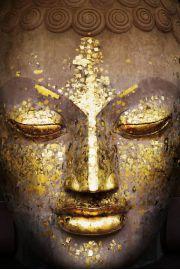 Złoty Budda - Buddha Face - plakat