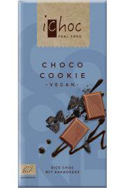 Ichoc Czekolada Z Kawałkami Ciastek Kakaowych (Na Napoju Ryżowym) Bio 80 G - Vivani