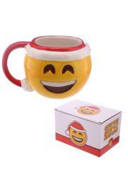 Świąteczny kubek z emotikonem Uśmiech
