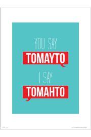 Typographic Tomayto Tomahto - art print