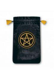 Aksamitny woreczek z pentagramem - mini (na karty tarota)