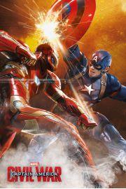 Kapitan Ameryka Wojna Bohaterów Starcie - plakat