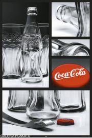 Coca-Cola - Butelki Otwieracz i Kapsle - plakat