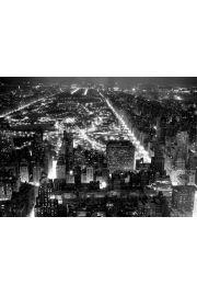 Nowy Jork Central Park Nocą - plakat