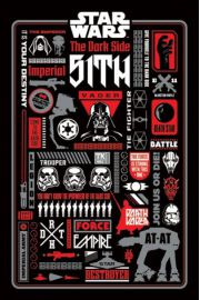 Star Wars Gwiezdne Wojny - Ciemna Strona Infografika - plakat