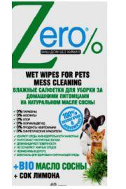 Nawilżane chusteczki do czyszczenia zabrudzeń zwierzęcych ERO Zero