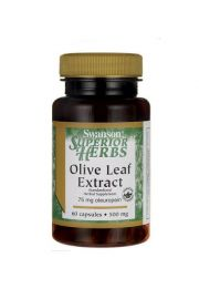 Swanson Olive Leaf - Liść Oliwny 500mg 60 kaps.