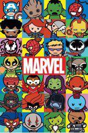 Marvel Comics Kawaii - plakat