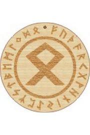 Runa Odala 5 cm - amulet drewniany