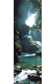 Nowa Zelandia Wodospad - plakat
