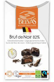Belgijskie Czekoladki Gorzka Czekolada 82% Bezglutenowe Fair Trade Bio 100 G - Belvas
