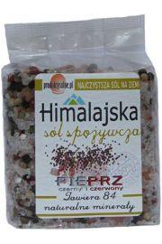 Sól himalajska z pieprzem kolorowym, uzupełniacz do młynków 300g