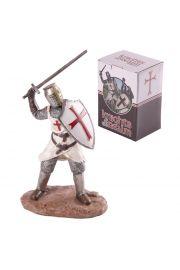 Krzyżowiec z mieczem atakujący