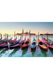 Wenecja Kolorowe Gondole - plakat