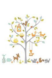 RoomMates. Leśne drzewo - naklejki wielokrotnego użytku