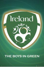 Irlandia Godło - Piłka Nożna - plakat