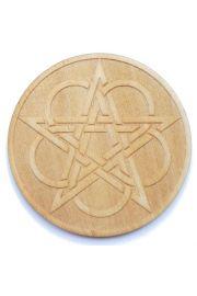 Pentagram celtycki, drewno