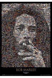 Bob Marley - mozaika składająca się z kilku tysięcy zdjęć z Bobem - plakat