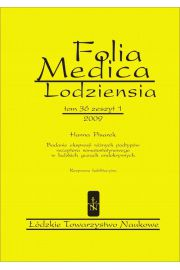 Folia Medica Lodziensia t. 36 z. 1/2009