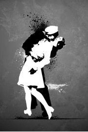 Pocałunek Kończący Wojnę - plakat