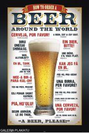 Piwo Proszę w Różnych Językach - plakat
