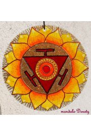 Czakra splotu słonecznego, mandala na szkle