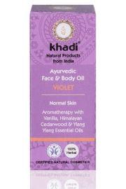 Ajurwedyjski olejek do twarzy i cia�a z fio�kiem Khadi 10 ml