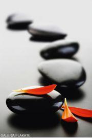 Zen Stones - Red - plakat