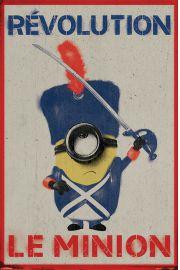 Minionki Rewolucja Francuska - plakat