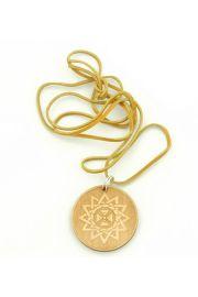 Gwiazda Arcygamy - wisior drewniany na rzemyku