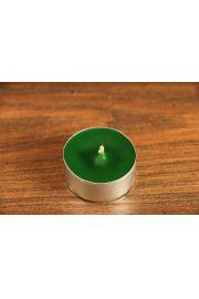 Świeca tealight z wosku pszczelego – ciemno zielona