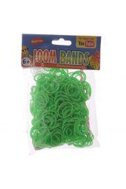 Zielone Gumki Loom Bands 600 sztuk