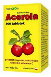 Acerola 100 tabletek - naturalna witamina C