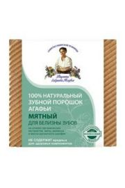 Babci Agafia Miętowy proszek do czyszczenia zębów wybielający Przepisy Babci Agafii.