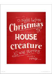 Christmas Mouse - art print