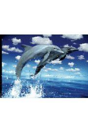 Delfiny - plakat 3D