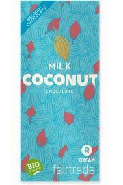 Czekolada Mleczna Z P�atkami Kokosowymi Fair Trade Bio 100 G - Oxfam