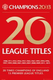 Manchester United Mistrzostwie - plakat