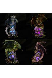 Figurka LED smoka siedz�cego na czaszce