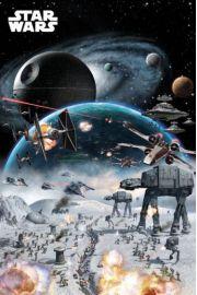 Star Wars Gwiezdne Wojny Bitwa Gwiazda Śmierci - plakat